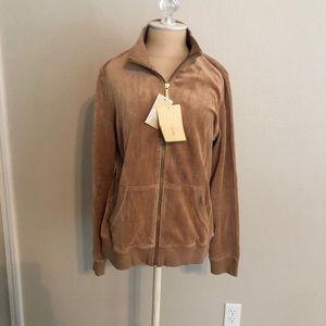 Velvet golden light jacket Michael Kors NWT